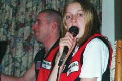 Kevin and Emlily on Grand Final Day 2002