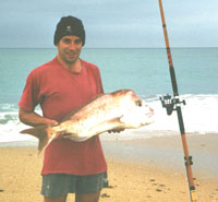 Kevin with a snapper off Golden Beach
